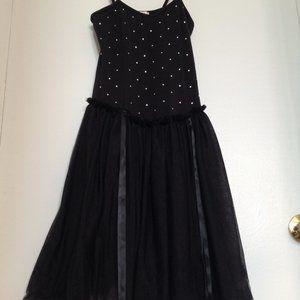 Monnalisa Girls Black Party Dress